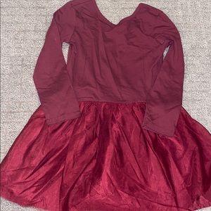 Girls old navy size 5T tutu dress - maroon
